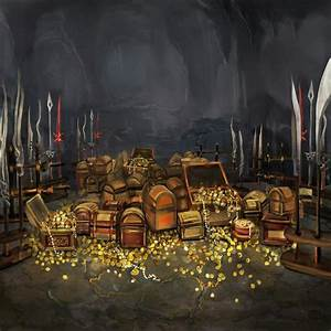 cave full of treasure chests