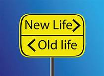 Sign: New life >old life<