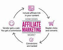 Shows how affiliate marketing works