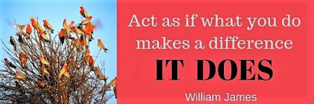 act as if what you do makes a difference. It does.