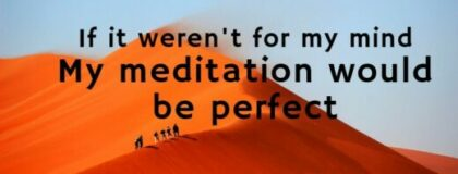 Quote: If it weren't for my mind my meditation would be perfect