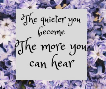 Quote: The quieter you become the more you can hear