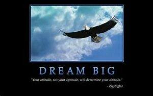 "poster: eagle and ""dream big"""