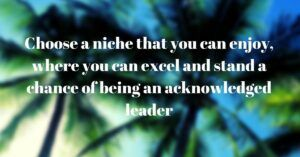 quote about a niche