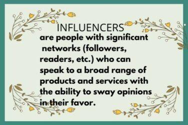 Influencers banner