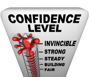 Confidence level thermometer
