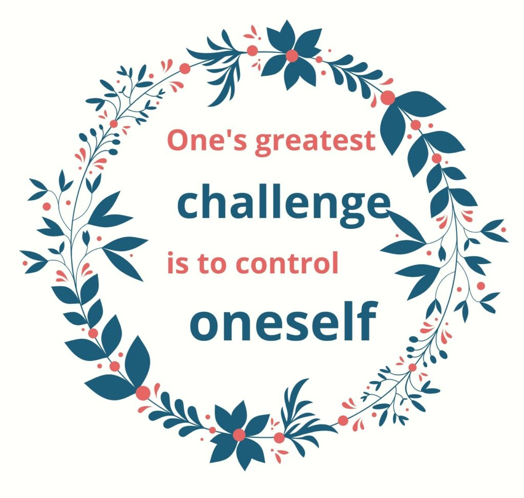slogan about self-control