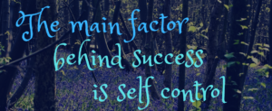 main factor behind success is self control