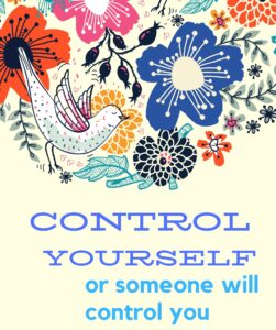 control yourself