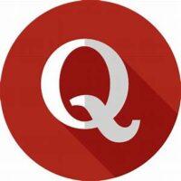 Q on red circle -- Quora logo