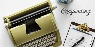 Typewriter; pad; the word copywriting