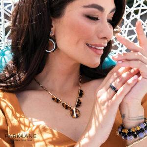 woman wearing Park Lane jewelry