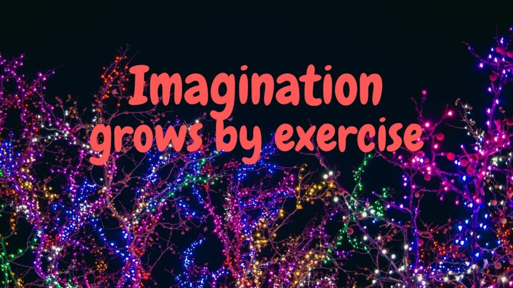 Imagination grows by exercise