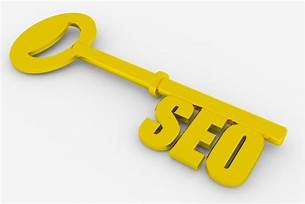 Gold key with SEO on the lower end