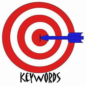 Bullseye with arrow in center; keywords underneath