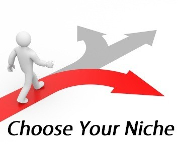 man walking arrow: choose a niche