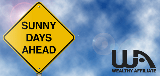 Sunny Days Ahead sign