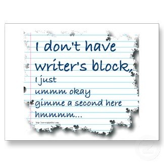 spoof on writer's block