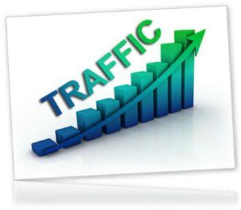 Traffic graph showing upward movement